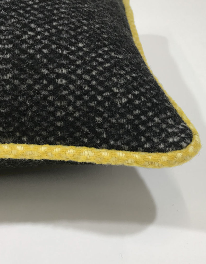 Crow black structure recycled wool rectangle cushion (NEW) (15 Dec)
