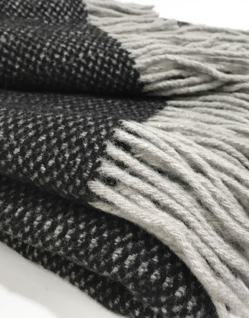 Crow black structure recycled wool throw (NEW) (15 Oct)