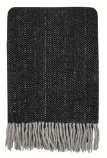 Crow black structure recycled wool throw (NEW)