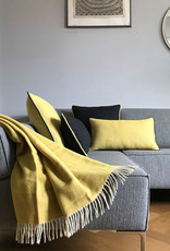 Birdy yellow structure recycled wool rectangle cushion (NEW)