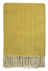 Birdy yellow structure recycled wool throw (NEW)