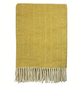 Birdy yellow structure recycled wool throw (NEW) (15 Oct)