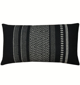 Native stripe cotton black cushion 35x65cm (NEW) (15 Dec)