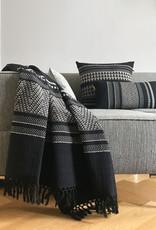Native stripe cotton black cushion 35x65cm (NEW) (15 Oct)