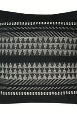 Native stripe cotton black cushion 60x60cm (NEW)