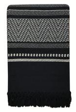 Native stripe cotton black throw 135x220cm (NEW) (15 Dec)