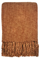 Marble terracotta red throw
