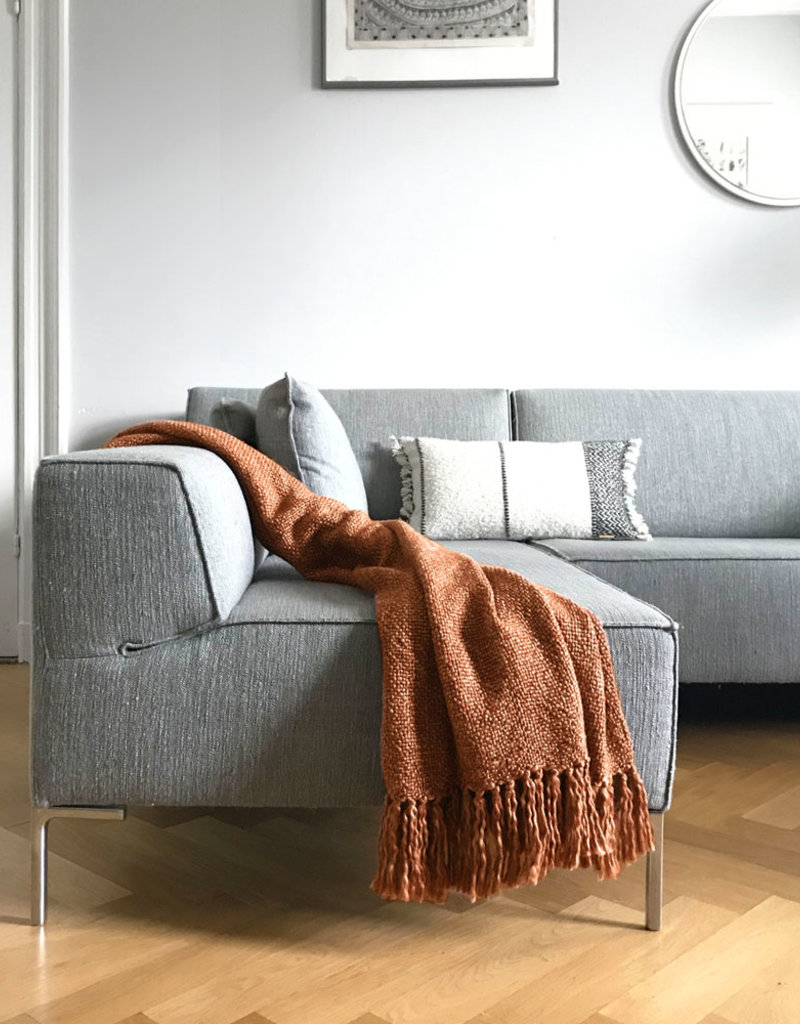 Marble terracotta red throw (NEW)
