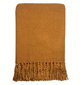 Inca yellow solid throw