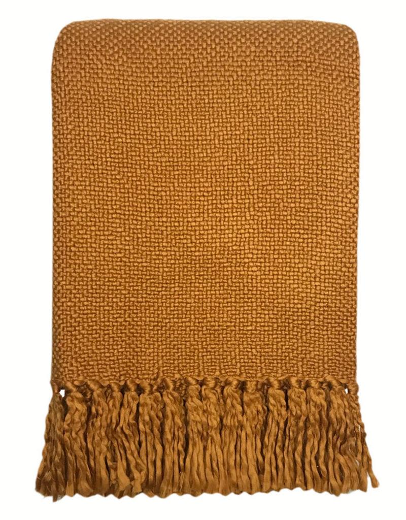 Inca yellow solid throw (NEW) (31 Dec)