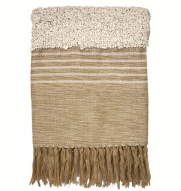 Tribal off white throw (NEW) (15 Dec)