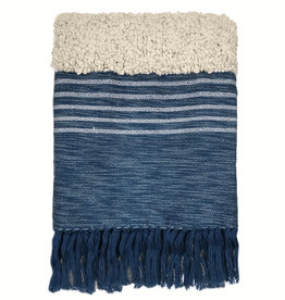 Tribal indigo blue throw (NEW)