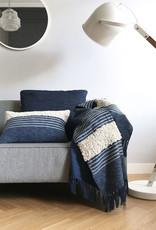 Tribal indigo blue cushion (NEW)