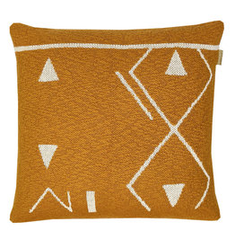 Fantasy line knitted cushion yellow (NEW)