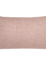 Misty pink double faced recycled wool rectangle cushion (NEW)