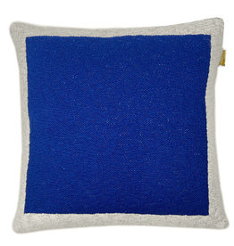 Solid knitted poster cushion blue (NEW)