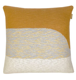 Sunset knitted cushion yellow (NEW)