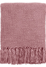 Misty pink solid throw (NEW)
