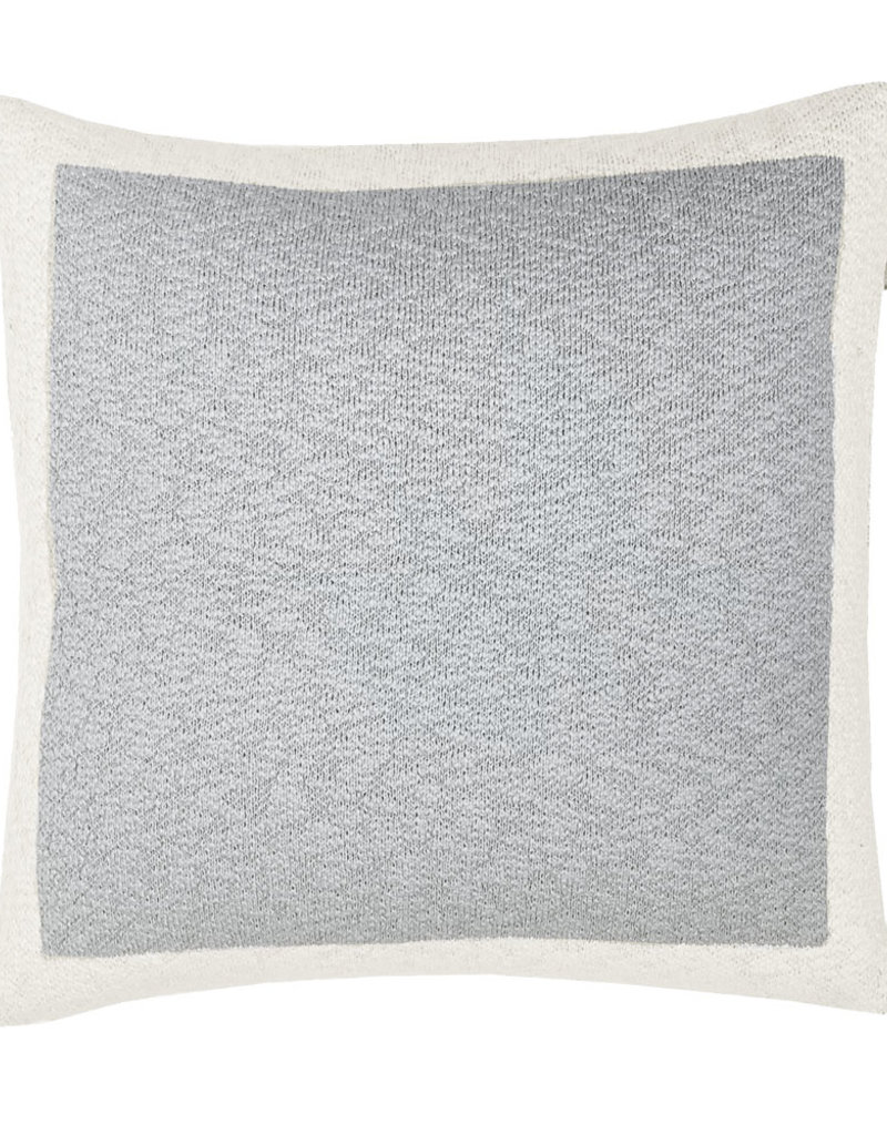 Solid knitted poster cushion grey (NEW)