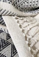 Native stripe cotton offwhite throw 135x220cm (Oct 10)