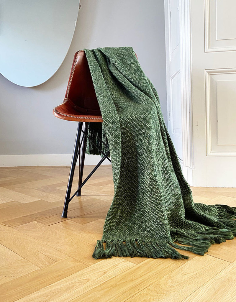 Marble jungle green throw