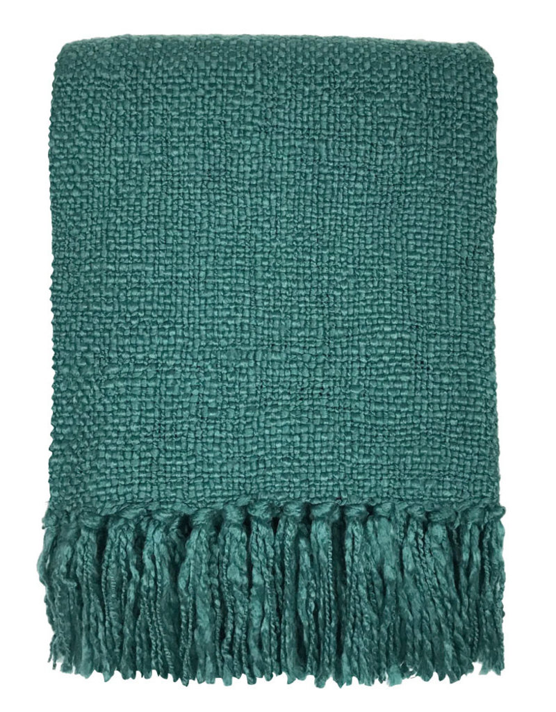 Rhinestone green throw