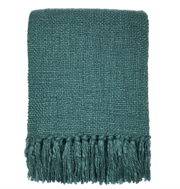 Lake green solid throw (NEW)