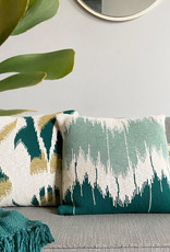 Wave knitted cushion green (NEW)