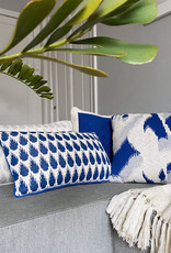 Ikat knitted cushion blue (NEW) (Oct 10)