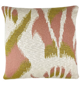Ikat knitted cushion pink (NEW) (Oct 10)