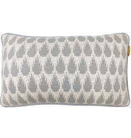 Botanic mini knitted cushion light grey (NEW)