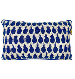 Botanic mini knitted cushion blue (NEW) (Oct 10)