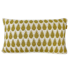 Botanic mini knitted cushion gold (NEW) (Oct 10)