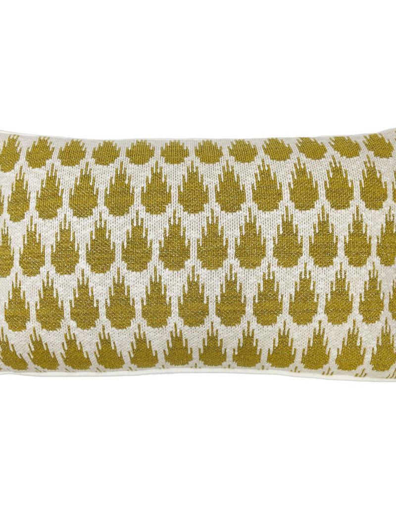 Botanic mini knitted cushion gold (NEW) (Oct 10)