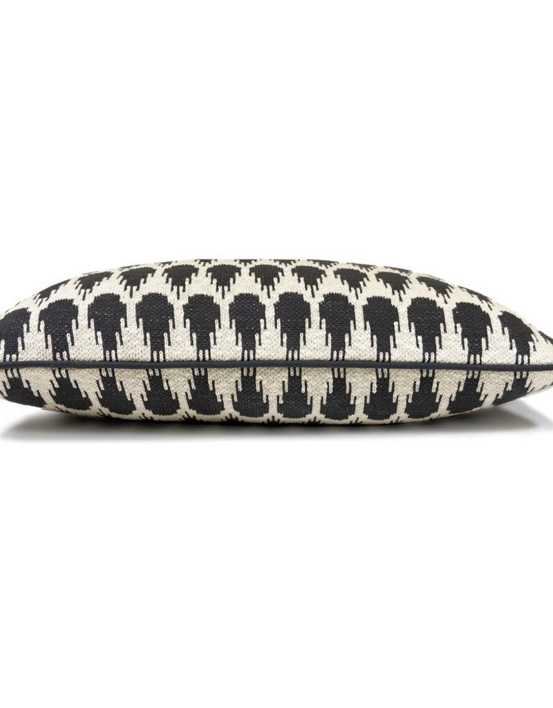 Botanic mini knitted cushion anthracite (NEW) (Oct 10)