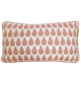 Botanic mini knitted cushion pink (NEW) (Oct 10)