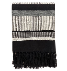 Black texture throw (NEW) (Oct 10)