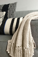 Ivory white solid throw (NEW)