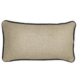 Beige structure recycled wool rectangle cushion (NEW)
