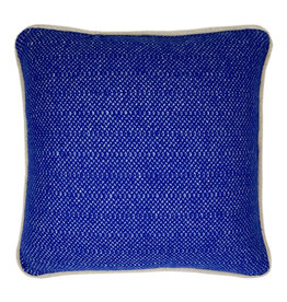 Rhinestone blue structure recycled wool square cushion (NEW)