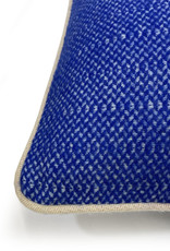 Rhinestone blue structure recycled wool rectangle cushion (NEW)