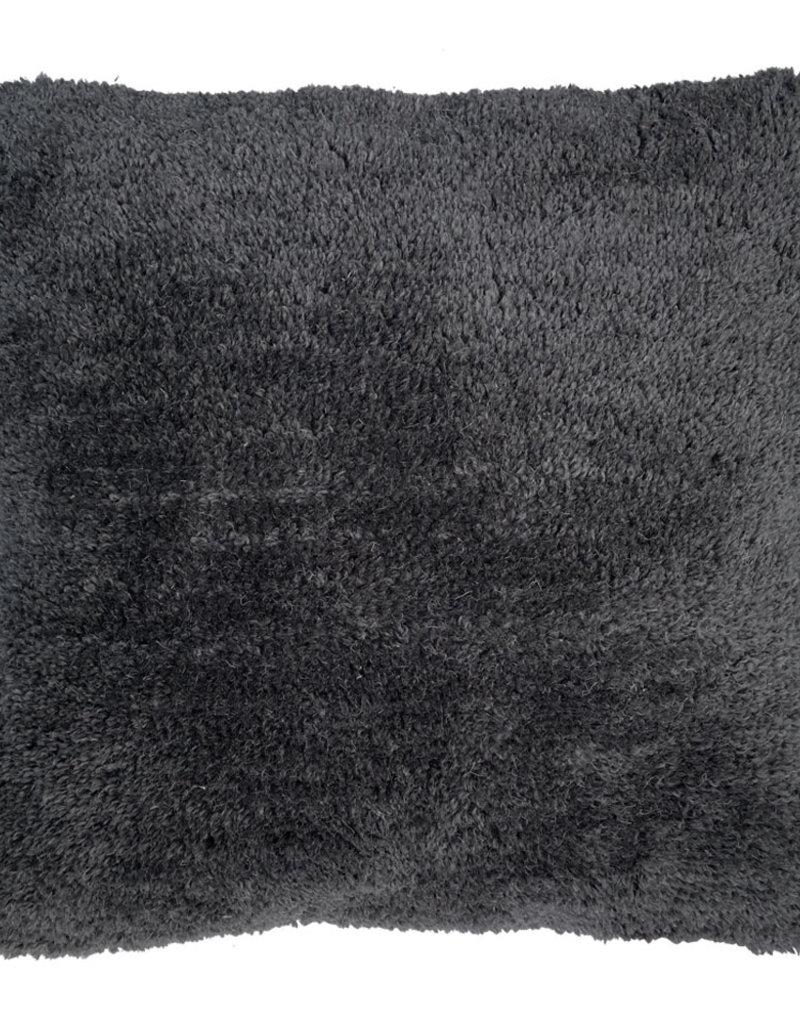 Tufted solid cushion cozy grey