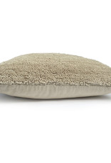Tufted solid cushion cocoon beige