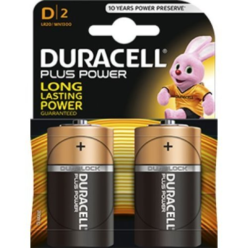 Duracell Plus Power MN1300 D Batterij BL2
