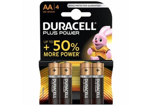 Duracell Plus Power MN1500 AA  Batterij BL4