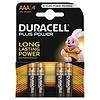 Duracell Plus Power MN2400 AAA Batterij BL4