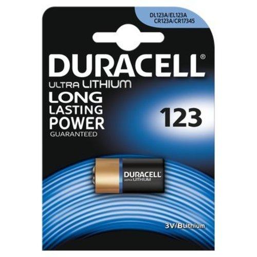 Duracell Ultra Lithium CR123A - DL123A 3V Batterij BL1