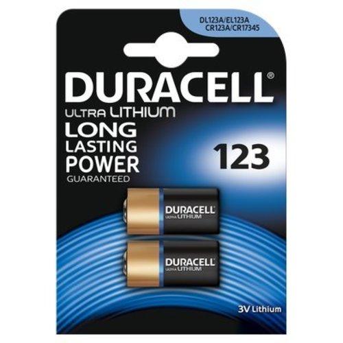 Duracell Ultra Lithium CR123A - DL123A 3V Batterij BL2