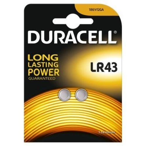 Duracell LR43 / LR1142 / AG12 Alkaline Knoopcellen BL2