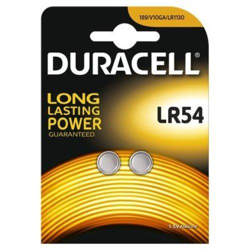 Duracell LR54 / LR1130 / AG10 Alkaline Knoopcellen BL2